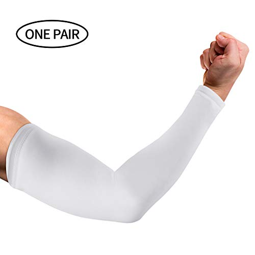 UV Protection Cooling Arm Sleeves for Men Women - SKL Sun Protection Sleeves to Cover Arms Tattoo Cover up Sleeves for Cycling Driving Running Fishing Climbing Golf Basketball Football (1 Pair)