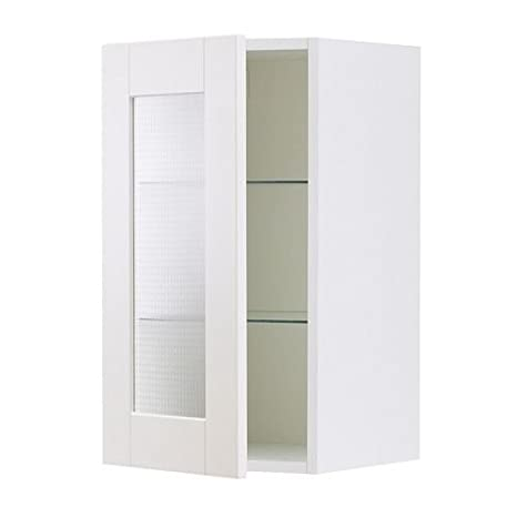 IKEA FAKTUM -Wandschrank mit Glastür Adel off-white: Amazon.de ...