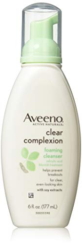 (Aveeno Clear Complexion Foaming Cleanser, 6-Ounce Bottles (Pack of 3))