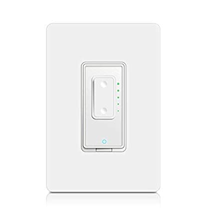 Smart Dimmer Switch by Martin Jerry | Compatible with Alexa as WiFi Light  Switch Dimmer No Hub Required White Works with Google Assistant Wireless