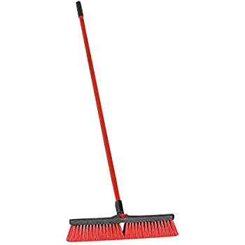 LIBMAN 805.0 Push Broom with Resin Block, Medium Duty Bristles, 24""