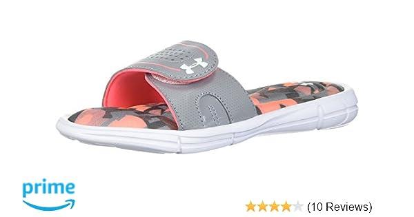 7afdca1af85 Amazon.com   Under Armour Kids' Girls' Ignite Alpha VIII Slide ...