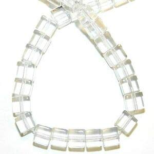 Steven_store G1353 Crystal Quartz 6mm Square Cube Reconstituted Gemstone Glass Beads 16