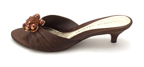 Chinese Laundry Womens Beetle Open Toe Casual Slide Sandals, Brown, Size 7.0