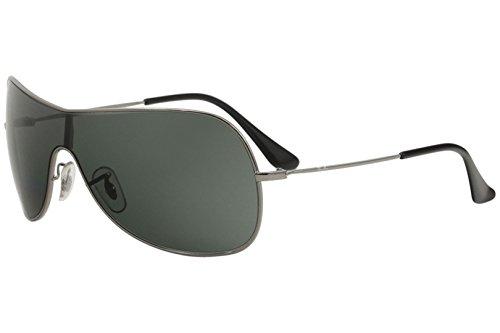 (Ray-Ban RB3211 Highstreet Sunglasses, Gunmetal/Green APX, Small)