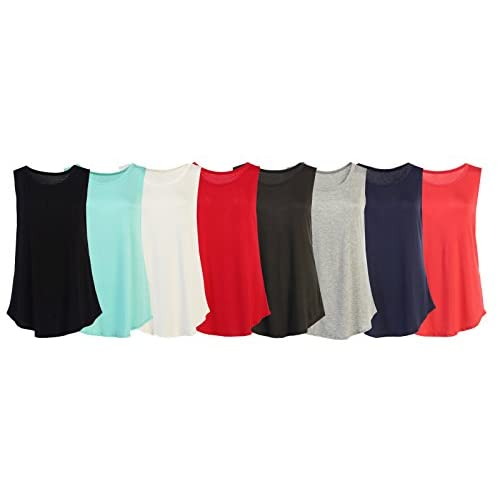 7c61eb56c7a78 Flowy Loose Fit Rayon Knit Tank Tops  Regular and Plus Size Workout Cool  Relaxed low