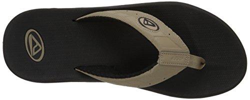 Reef - Sandalias para hombre, color gris, talla 44 Black/Black/Tan