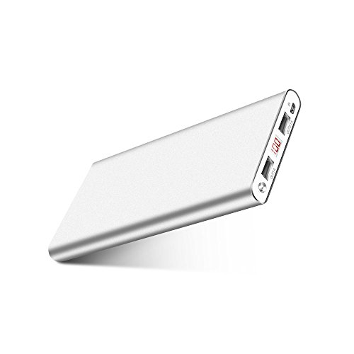Fritesla 50000M 16000mah Power Bank Ultra Slim External Battery with 2 USB Ports Portable Charger Pack for iPhoneX...