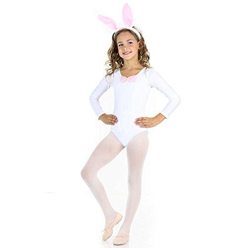 [Danzcue Girls Dance Bunny Bow Box Set , White, S-Child] (Bunny Leotard Costume)
