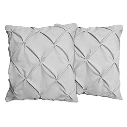 Pinch Pleated Standard Pinch Pleated Pillow Shams Set of 2 Luxurious and Soft 600 Thread Count 100/% Pure Egyptian Cotton Black Solid Pinch Pleated Pintuck Decorative Cushion Cover 20X26