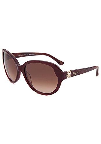Salvatore Ferragamo Glasses (Salvatore Ferragamo Women's SF708S Pearl Bordeaux Sunglasses)