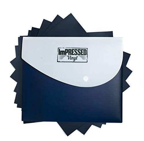 - Navy Blue Heat Transfer Vinyl -10 Pack of 12