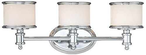 Vaxcel CR-VLU003CH Carlisle 3 Light Vanity Light, Chrome Finish