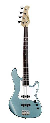 - Cort GB Series GB54JJ 4-String Electric Bass Guitar, Sea Foam Pearl Green