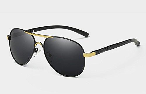 Sombras Gafas TL Hombres Oro Guía de Sunglasses Lujo UV400 black Gafas HD Rojo de polarizadas Sol gold para 7rxqS1wr5z