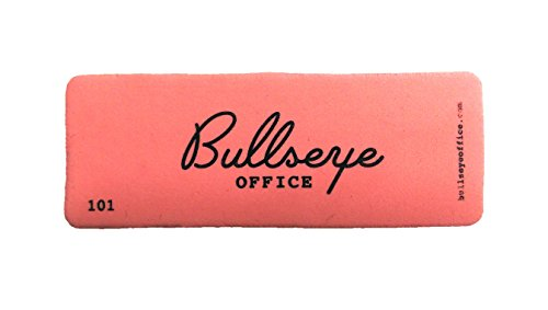 "Bull's Eye Office - Retro Pink Magnetic Erasers - Set of 3 Premium Magnetic Dry Erase Erasers - 4.5"" x 1.5"" - Perfect Whiteboard Erasers for Classroom, Home and Office"