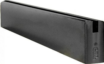Black Powder Coat 4'' x 240'' Length Square Sidelite Rail by CR Laurence