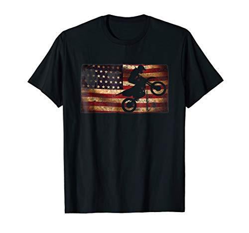 Motocross Dirt Bike with Vintage Distressed American Flag