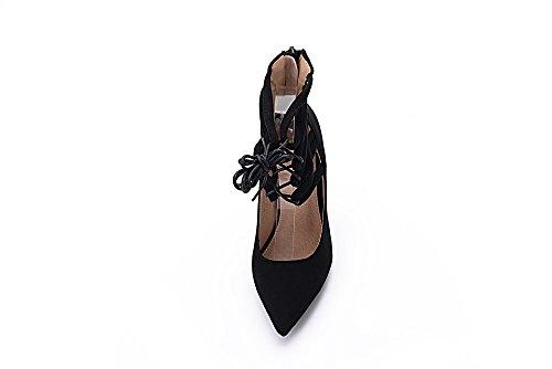 Mila Lady Ether21 Dorsay Strappy Tobillera Elegance Platform Lady Zapatos De Tacón Con Cordones! Negro 7