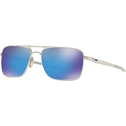 Oakley Men's Titanium Man Square Sunglasses, Polished Chrome, 57 - Oakley Titanium