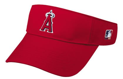 Los Angeles Angels of Anaheim Officially Licensed MLB Adjustable Velcro Adult Visor by OC Sports