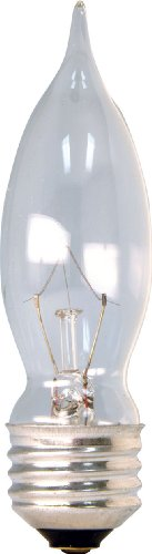 Ge Medium Voltage (GE 16049 40-Watt Bent Tip Medium Base Light Bulb, 4-Pack, Crystal)