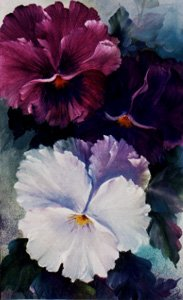 Bob Ross How-to Painting Packet Large Pansies