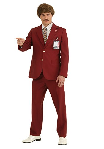 Fun Costumes Mens Plus Size Authentic Ron Burgundy Suit 2x - Ron Burgundy Costume For Kids