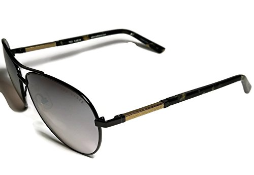 Ted Baker Womens TB105 Aviator Black Gold Sunglasses Small - Baker Sunglasses Ted Case