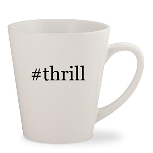 Victory Replacement Battery - #thrill - White Hashtag 12oz Ceramic Latte Mug Cup
