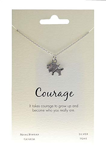 (Shag Wear Animal Inspirations Quote Pendant Necklace (Lion Roar Pendant))