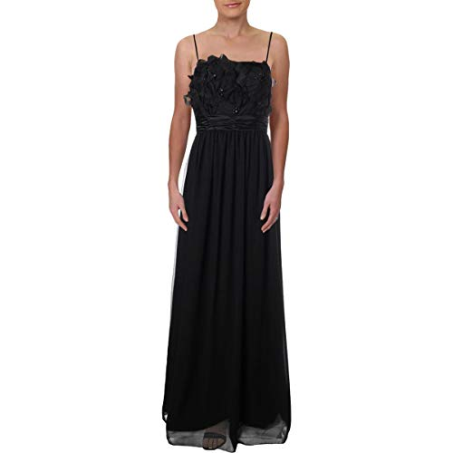 (Max and Cleo Womens Formal Prom Evening Dress Black 8)