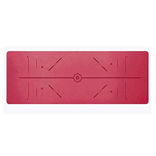 GONGFF Rubber Yoga Exercise Mat with Aligned ()