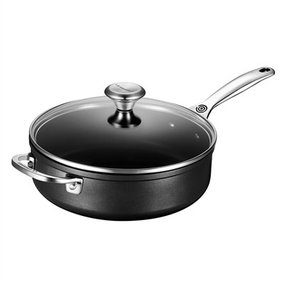 Le Creuset TNS5100-26 Toughened Nonstick 4 1/4 quart Saute Pan with Glass Lid, 4-1/4 by Le Creuset (Image #1)