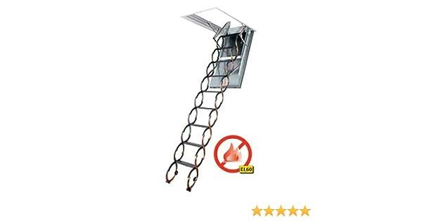 FAKRO aislado Acero Escalera de ático de tijera para (81,3 x 120 cm Rough Aberturas: Amazon.es: Bricolaje y herramientas