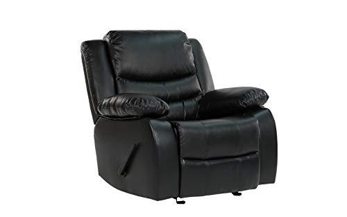Divano Roma Furniture Recliner Chair, Black