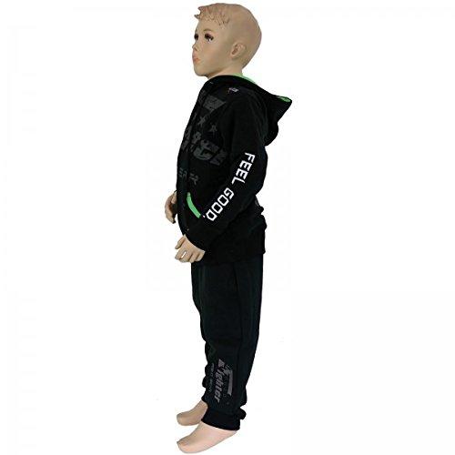 Zip Néon leisure Survêtement Un De Noir vert 4fighter Suit tenue Avec Kids Jogging xwnB8nqZI7