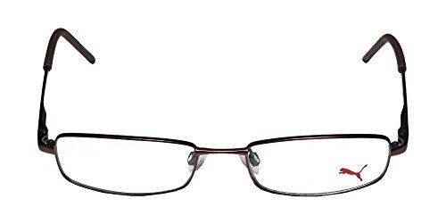 Puma 15382 Mens/Womens Designer Full-rim Eyeglasses/Glasses (51-17-135, Brown / Teal) (Puma New Wave)