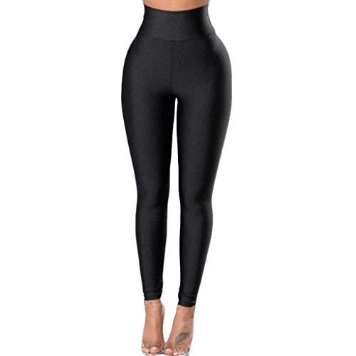 - TOPBIGGER Womens High Waist Tummy Control Shapewear Running Workout Leggings Black