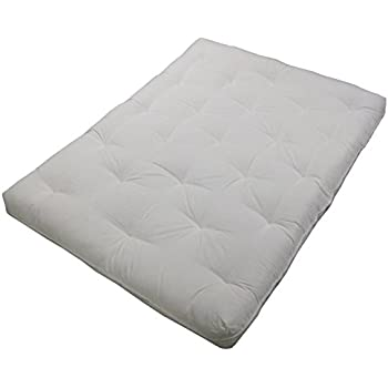 au natural 8   loft all cotton filled futon mattress king size twill amazon    cotton cloud futons   all natural cotton twin size      rh   amazon