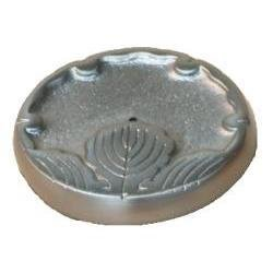 Maroma Copper and Pewter Incense Holder, Round Pewter (1 Holder Maroma)