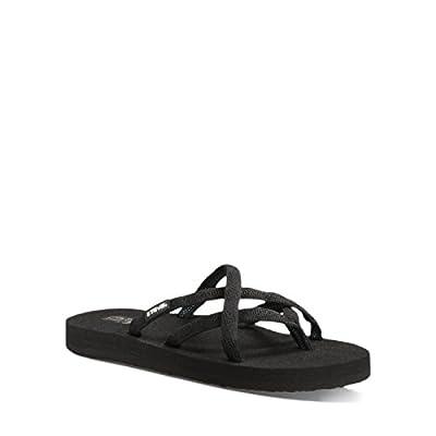 Teva Women's Olowahu Sandals (Mix B Black On Black,8B)
