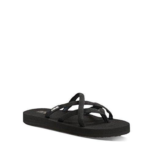 b07ddf0e2f0be1 Teva Women s Olowahu Sandals (Mix B Black On Black