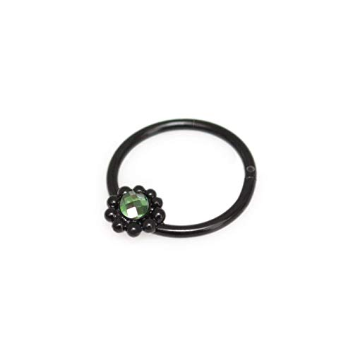 Amazon Com Septum Ring With Cz Daith Earrings Surgical Steel