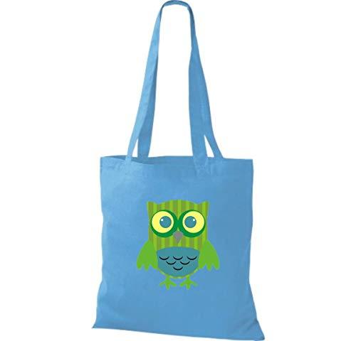 Shirtinstyle Para Mujer Algodón Tela Bolso De Claro Azul 6rqSF6wW