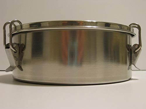 1.5 Quart Round Flan Pan with Straight Sides 6 3/4 Inches Diameter Stainless Steel with Locking Top