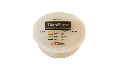 CanDo TheraPutty Plus Anti microbial Tan