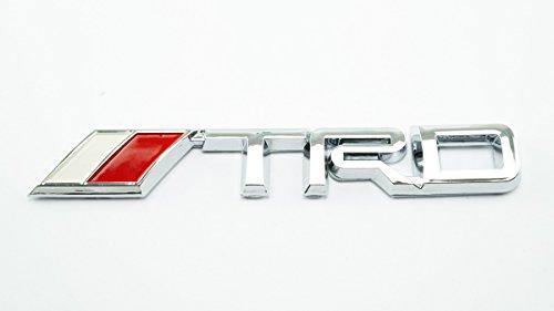3D TRD Chrome Metal Logo Emblem Sticker Decal Badge Trunk Chrome Trunk Emblem