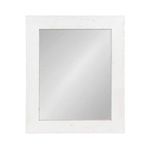 Kate and Laurel Garvey Wood Framed Wall Mirror, Rustic -
