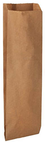 MT Products Quart Size Kraft Brown Paper to Go Bag (50 Pieces)